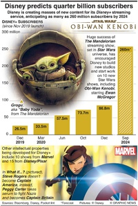ENTERTAINMENT: Disney predicts quarter billion subscribers infographic