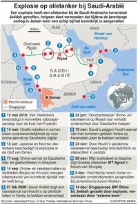 MIDDEN-OOSTEN: ExplosieSaudische tanker infographic