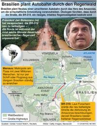 UMWELT: Brasilien Autobahn durch das Herz des Amazonas infographic