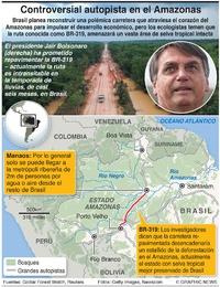 AMBIENTE: Controversial autopista en el Amazonas infographic
