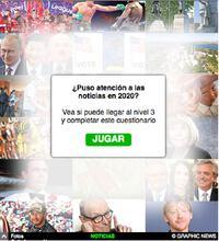 FIN DE AÑO: Cuestionario de Noticias 2020 Interactivo infographic