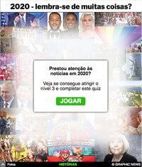 FIM DE ANO: Quiz de notícias 2020 interactivo (2) infographic