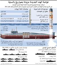 عسكري: غواصة الهند الجديدة مزودة بصواريخ بالستية infographic