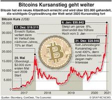 WIRTSCHAFT: Bitcoin erreicht Höchstkurs infographic