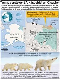 UMWELT: Trump versteigert Arktis an Ölsucher infographic