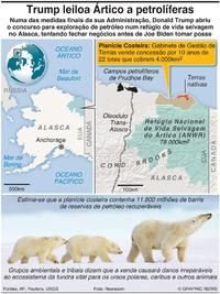 AMBIENTE: Trump leiloa o Ártico para exploração petrolífera infographic
