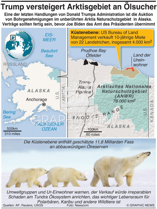 Trump versteigert Arktis an Ölsucher infographic
