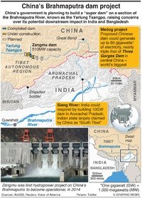 ENVIRONMENT: China's Brahmaputra dam project infographic