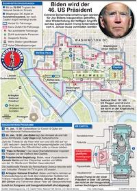POLITIK: Biden Inauguration Sicherheitsvorkehrungen (3) (UPDATE DUE JAN 18) infographic