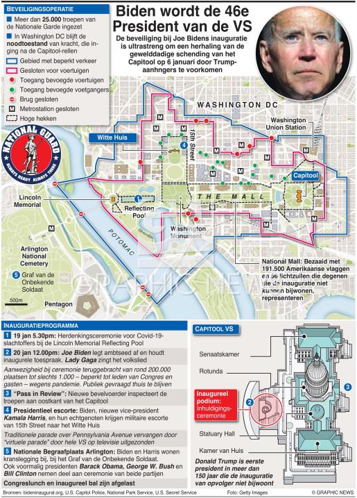 Beveiliging inauguratie Biden (3)  infographic