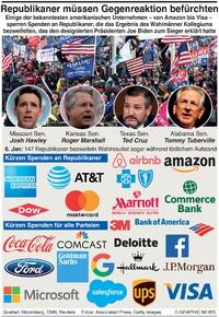 WIRTSCHAFT: Gegenreaktion von Unternehmen für Republikaner infographic