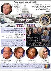 سياسة: مشاهير في حفل تنصيب بايدن infographic