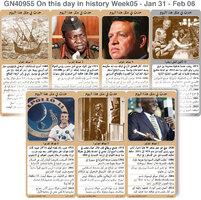 تاريخ: حدث في مثل هذا اليوم - 31 كانون الثاني - 6 شباط - الأسبوع 5 infographic