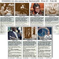 HISTORIA: Un día como hoy Enero 31-Febrero 06, 2021 (semana 05) infographic