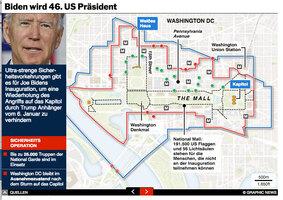 POLITIK: Biden Inauguration Sicherheit  interactive infographic