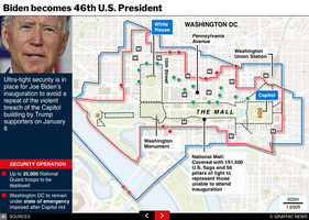 POLITICS: Biden inauguration security interactive infographic