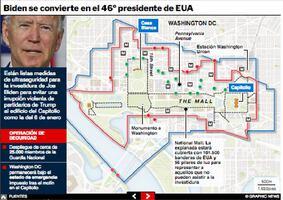 POLÍTICA: Seguridad en la investidura de Biden Interactivo infographic