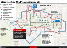 POLITIEK: Beveiliging inauguratie Biden infographic