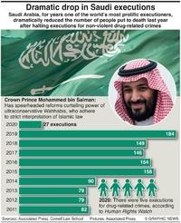 JUSTICE: Saudi executions fall infographic