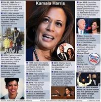 POLITICS: Kamala Harris profile infographic