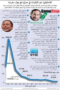 أعمال: المتداولون عبر الإنترنت في صراع مع وول ستريت infographic