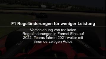 F1: 2021 Regeländerungen F1 für weniger Leistung - video infographic