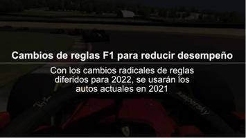 F1: Cambios de reglas 2021 para reducir desempeño F1 Video infographic