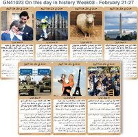 تاريخ: حدث في مثل هذا اليوم - 21 - 27  شباط - الأسبوع 8 infographic