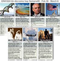 HISTORIA: Un día como hoy Febrero 28-Marzo 06, 2021 (semana 9) infographic
