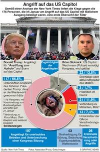 POLITIK: Täter im Angriff auf das US Capitol infographic