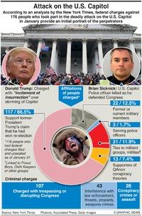 POLITICS: U.S. Capitol riot perpetrators infographic