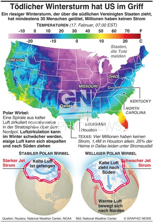 Tödlicher Wintersturm hat US im Griff infographic