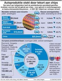 BUSINESS: Tekort aan microchips voor auto's infographic
