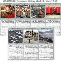 تاريخ: حدث في مثل هذا اليوم - 7 - 13 آذار - الأسبوع 10 infographic