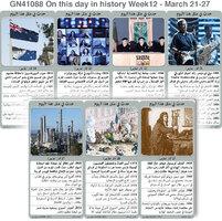 تاريخ: حدث في مثل هذا اليوم - 21 - 27  اذار - الأسبوع 12 infographic