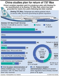AVIATION: Boeing 737 Max global fleet infographic