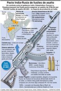 EJÉRCITOS: Pacto India-Rusia de fusiles de asalto  infographic