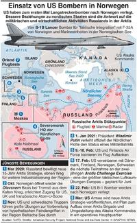 MILITÄR: US Bomber für Einsatz in Norwegen infographic