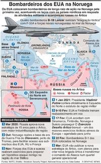 DEFESA: Bombardeiros dos EUA colocados na Noruega infographic