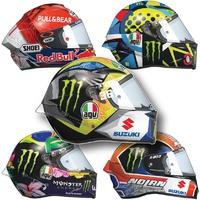 MOTOGP: Rider helmets 2021 infographic