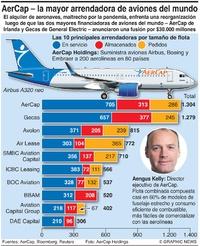NEGOCIOS: Fusión de arrendadoras de aviones infographic