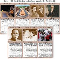 تاريخ: حدث في مثل هذا اليوم - 4 - 10 نيسان - الأسبوع 14 infographic