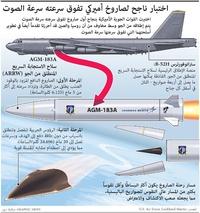 عسكري: الولايات المتحدة تختبر صاروخاً أسرع من الصوت infographic