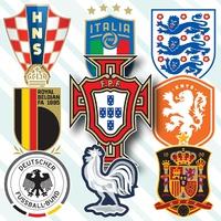SOCCER: UEFA Euro 2020 team crests infographic