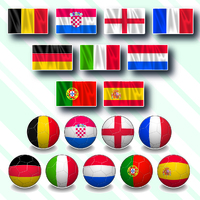SOCCER: UEFA Euro 2020 flags infographic