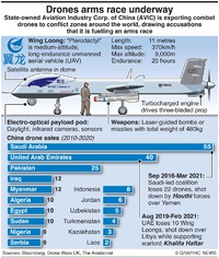 MILITARY: China's Wing Loong drone infographic