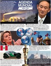 AGENDA MUNDIAL: Abril 2021 infographic