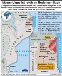 KONFLIKT: Mosambique Kämpfe infographic