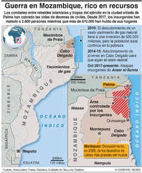 CONFLICTO: Combates en Mozambique infographic