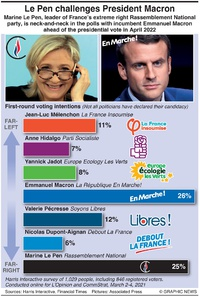 POLITICS: France's 2022 presidential field infographic